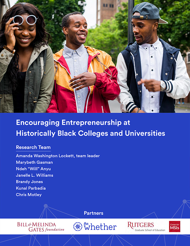 Encouraging Entrepreneurship at Historically Black Colleges and Universities